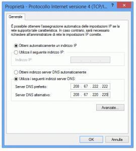 nuovi server DNS